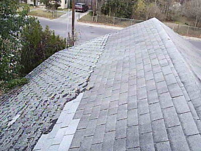 3 types of shingles on roof